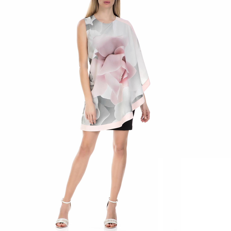 TED BAKER - Γυναικείο μίνι φόρεμα τουνίκ Ted Baker ροζ - μαύρο γυναικεία ρούχα φορέματα μίνι