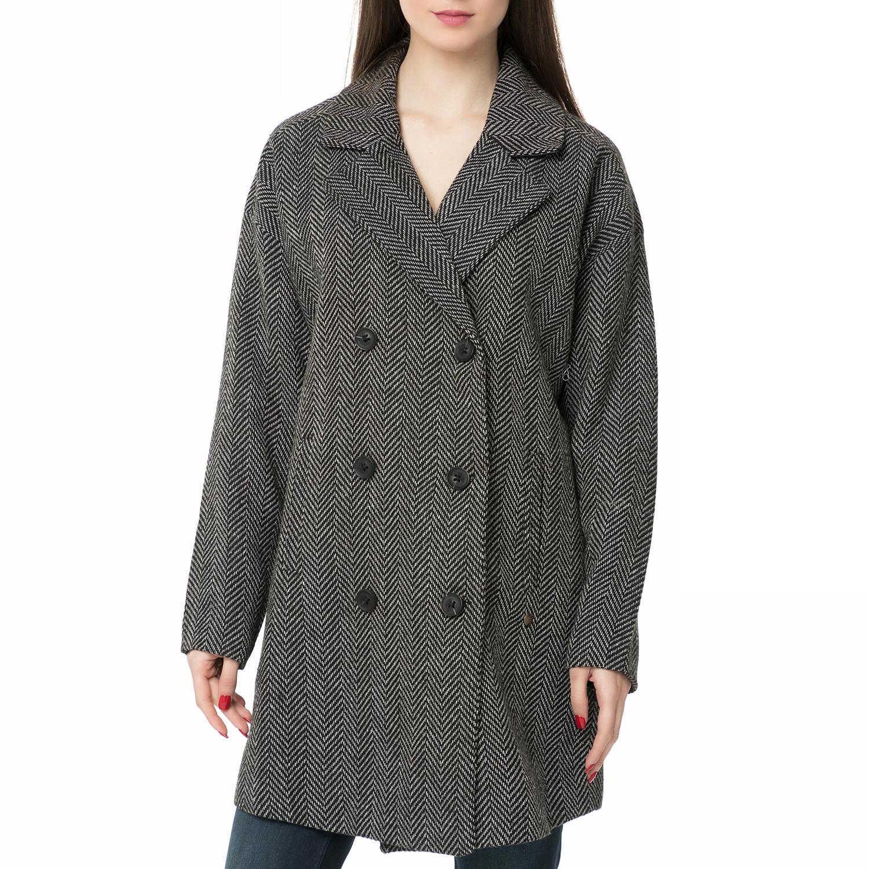 GARCIA JEANS - Γυναικείο παλτό GARCIA JEANS ασπρόμαυρο γυναικεία ρούχα πανωφόρια παλτό
