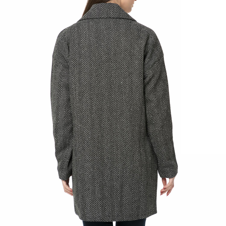 d6a691cb8b GARCIA JEANS - Γυναικείο παλτό GARCIA JEANS ασπρόμαυρο