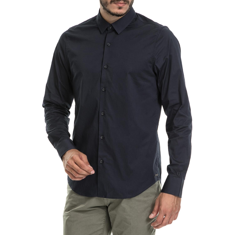 f7fe6b8eda6c GARCIA JEANS – Ανδρικό πουκάμισο Garcia Jeans μπλε – Online Ρούχα