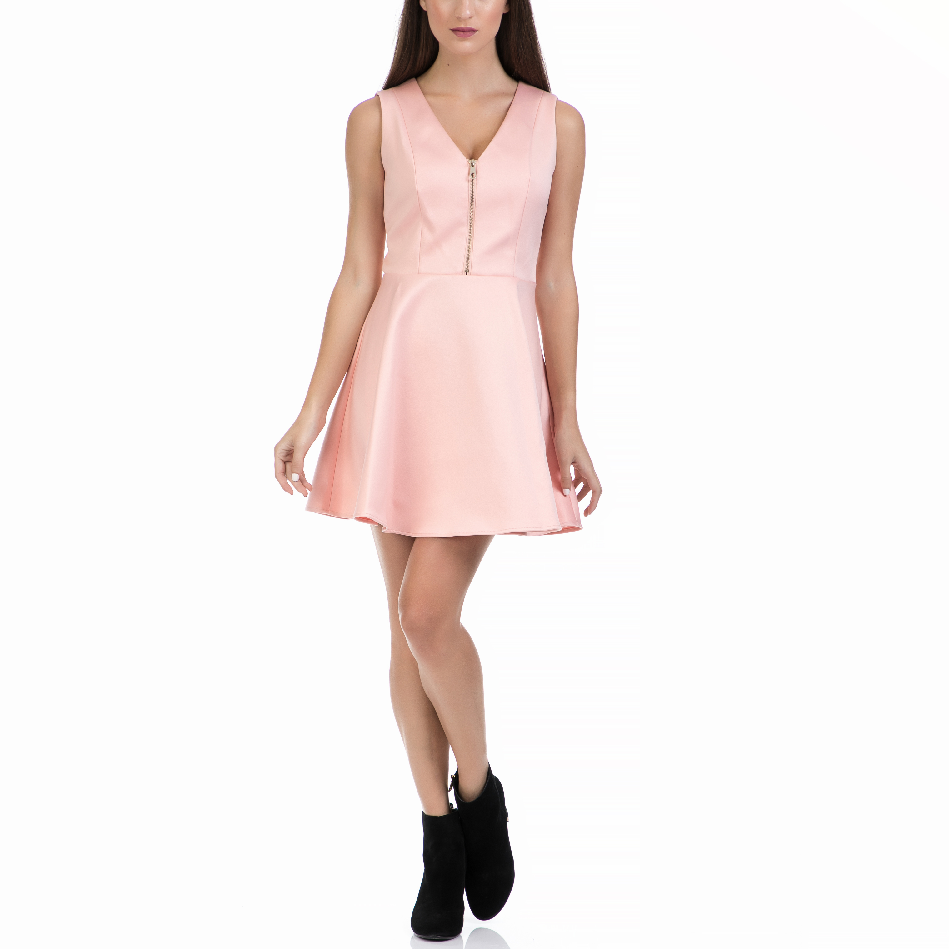 GUESS - Γυναικείο φόρεμα GUESS ροζ γυναικεία ρούχα φορέματα μίνι