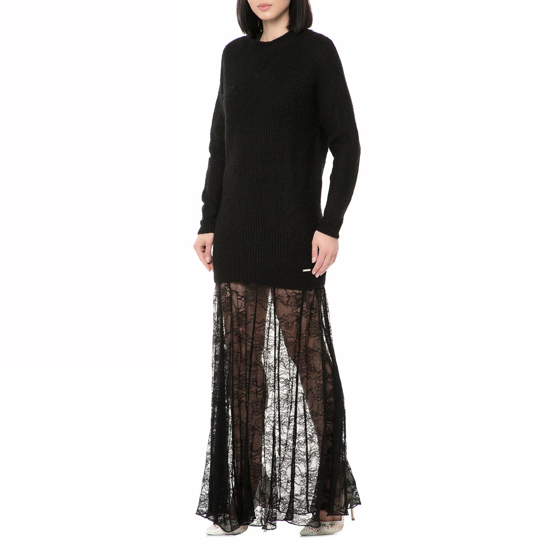 86f9728287f8 GUESS - Γυναικείο μάξι φόρεμα CARMEN - SPECIAL WOOL μαύρο
