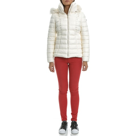Γυναικείο μπουφάν GUESS NEZIHE λευκό (1484584.0-0095)  1d5628373fc
