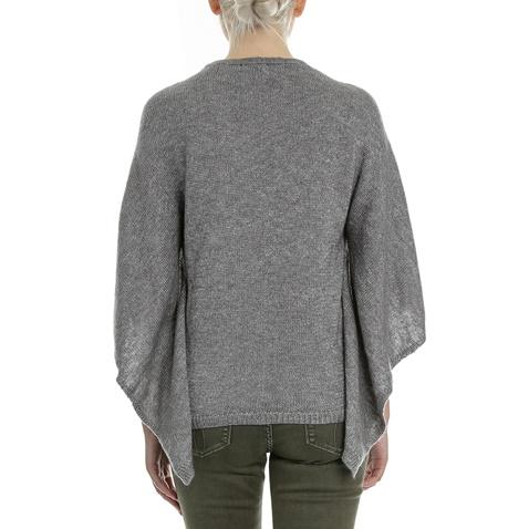 GUESS-Γυναικείο πουλόβερ-πόντσο GUESS DANZIA γκρι