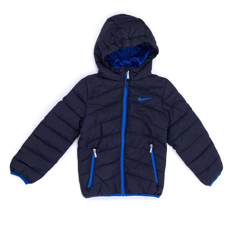 NIKE KIDS - Παιδικό μπουφάν NIKE μπλε παιδικά boys ρούχα πανωφόρια
