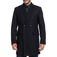 SSEINSE-Ανδρικό παλτό SSEINSE μπλε