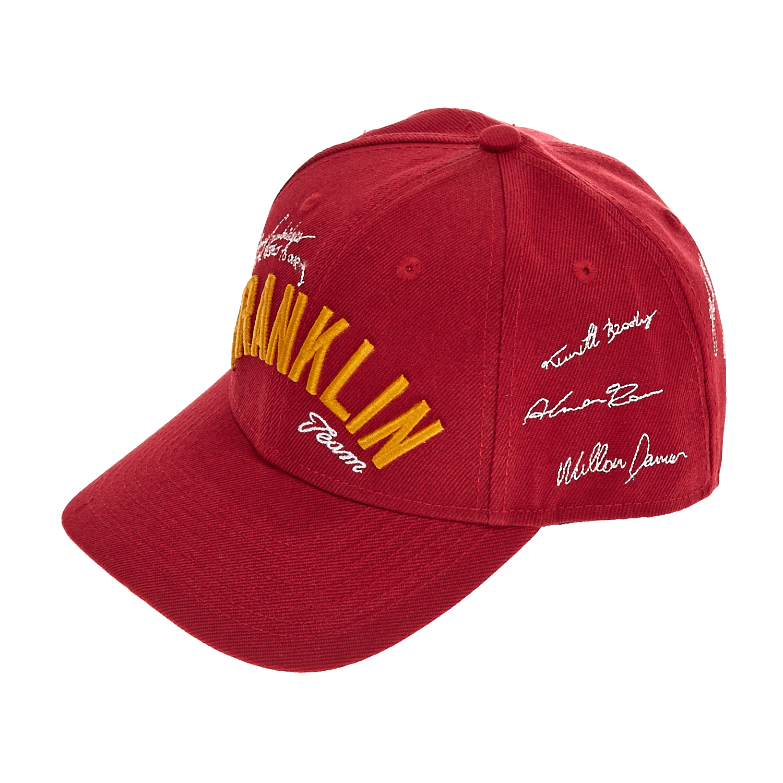 FRANKLIN & MARSHALL - Καπέλο τζόκεϋ Franklin & Marshall μπορντώ γυναικεία αξεσουάρ καπέλα αθλητικά
