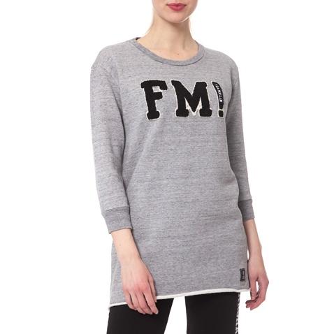 b35ef0c0ef30 Γυναικείο φούτερ Franklin   Marshall γκρι μελανζέ (1485868.0-00g1 ...
