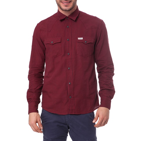Ανδρικό πουκάμισο Franklin   Marshall κόκκινο (1486057.0-0044 ... 245dc187b53