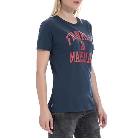 FRANKLIN & MARSHALL-Γυναικεία μπλούζα FRANKLIN & MARSHALL μπλε