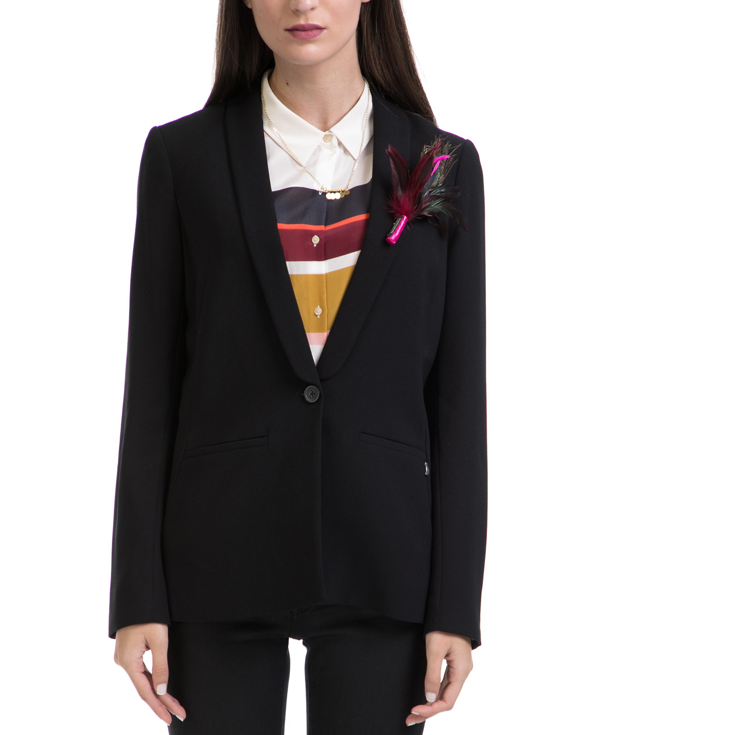 SCOTCH & SODA - Γυναικείο σακάκι MAISON SCOTCH μαύρο γυναικεία ρούχα πανωφόρια σακάκια