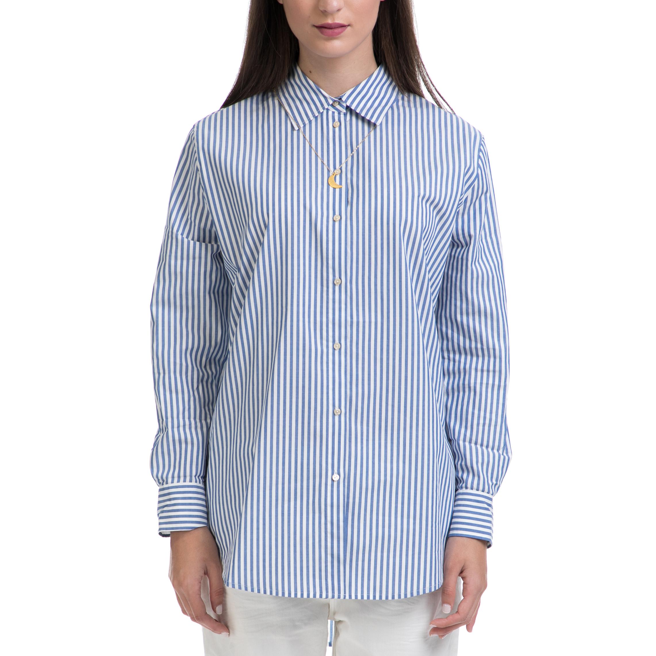 4f606ec02911 SCOTCH   SODA – Γυναικείο πουκάμισο MAISON SCOTCH μπλε-άσπρο