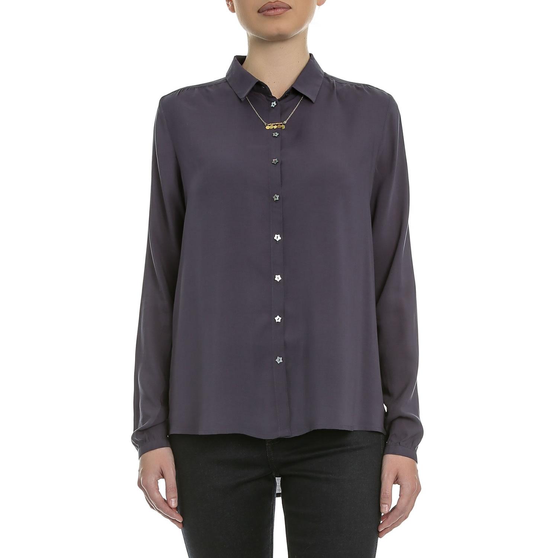 SCOTCH & SODA - Γυναικείο πουκάμισο Maison Scotch σκούρο μπλε γυναικεία ρούχα πουκάμισα μακρυμάνικα
