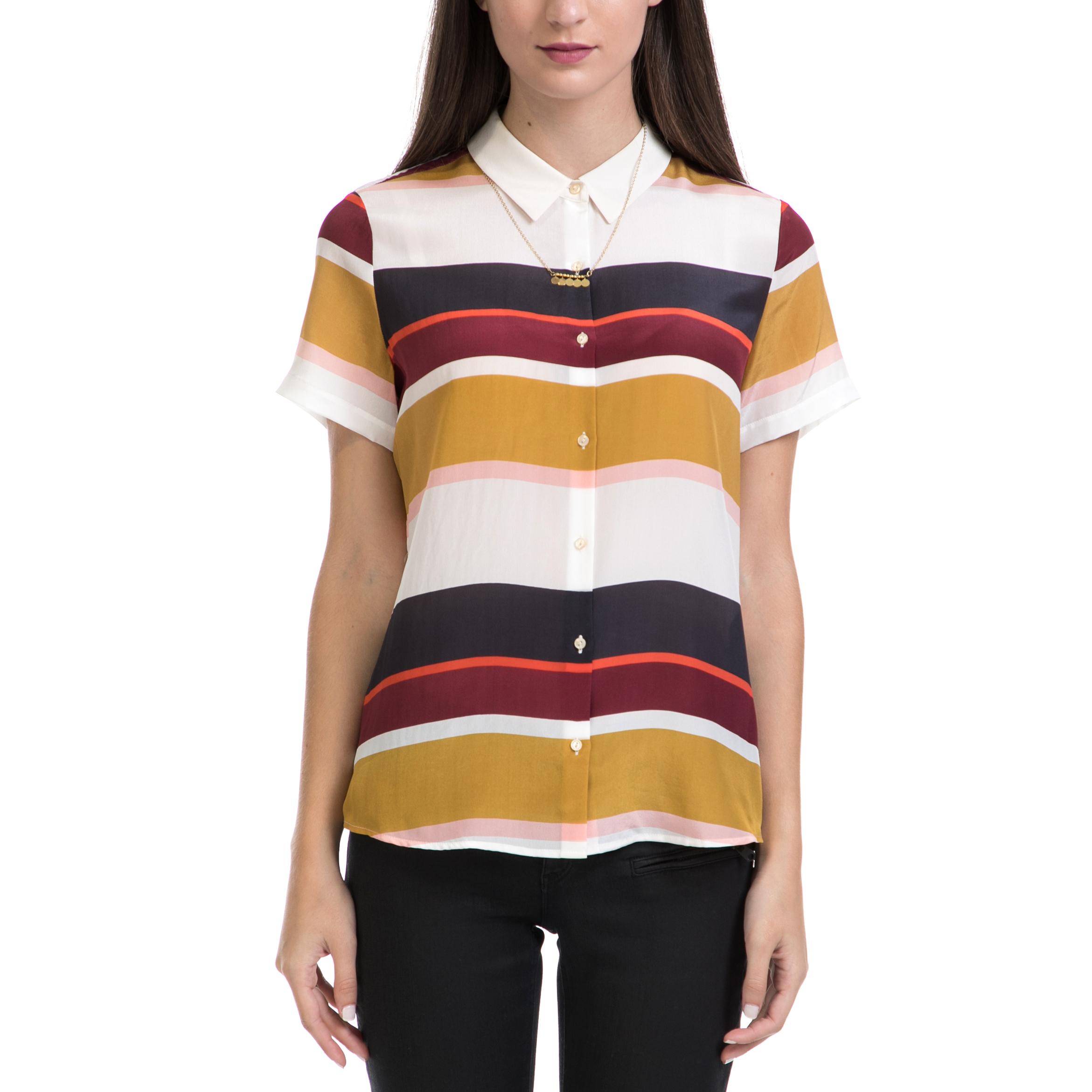 SCOTCH & SODA - Γυναικείο πουκάμισο MAISON SCOTCH ριγέ γυναικεία ρούχα πουκάμισα κοντομάνικα αμάνικα