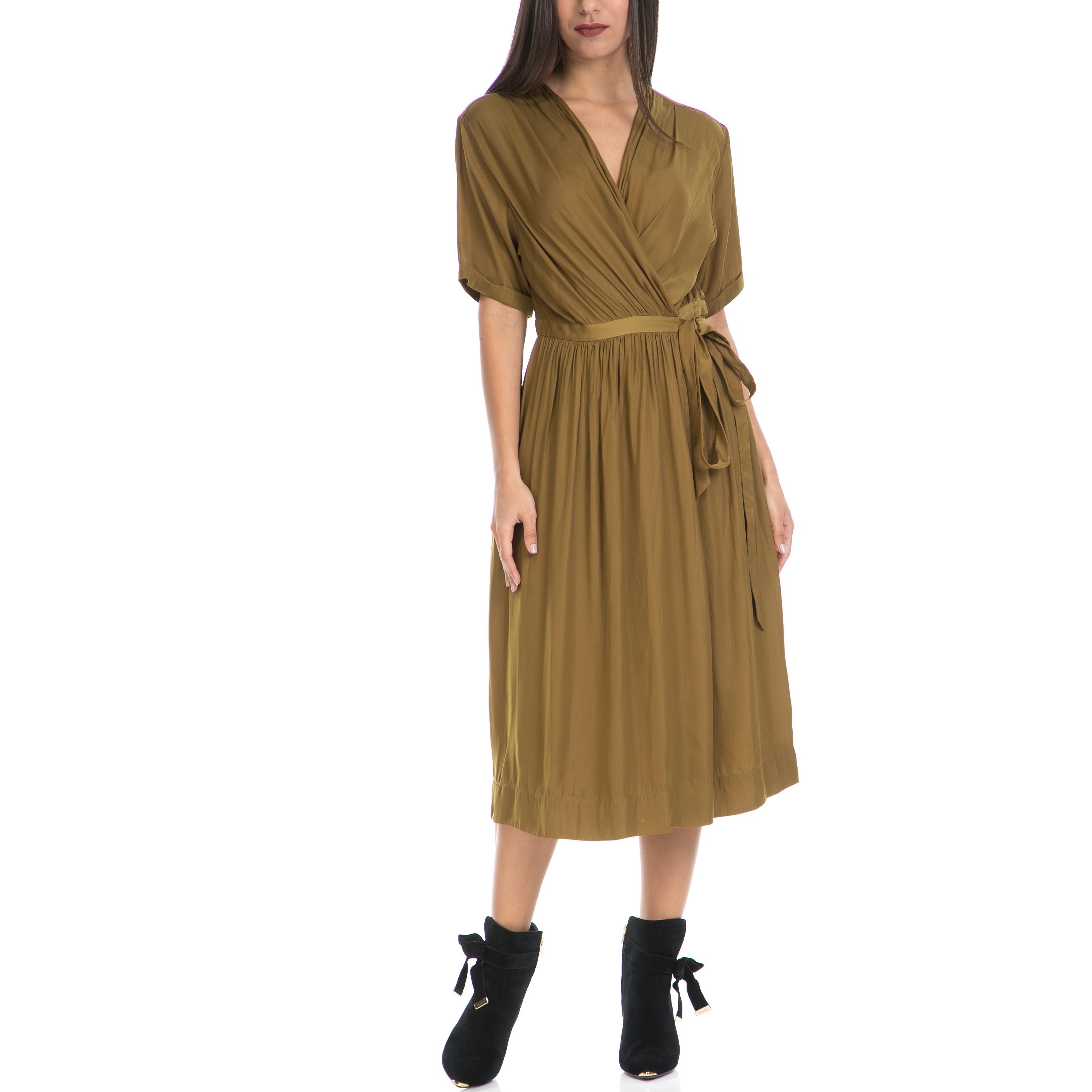 SCOTCH & SODA - Γυναικείο φόρεμα MAISON SCOTCH χακί γυναικεία ρούχα φορέματα μάξι