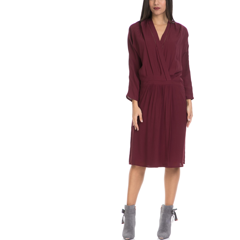 SCOTCH & SODA - Γυναικείο φόρεμα MAISON SCOTCH μπορντό γυναικεία ρούχα φορέματα μέχρι το γόνατο
