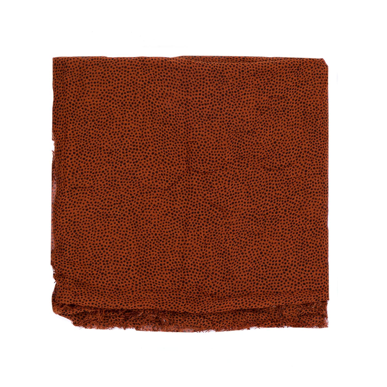 SCOTCH & SODA - Γυναικείο κασκόλ MAISON SCOTCH καφέ γυναικεία αξεσουάρ φουλάρια κασκόλ γάντια