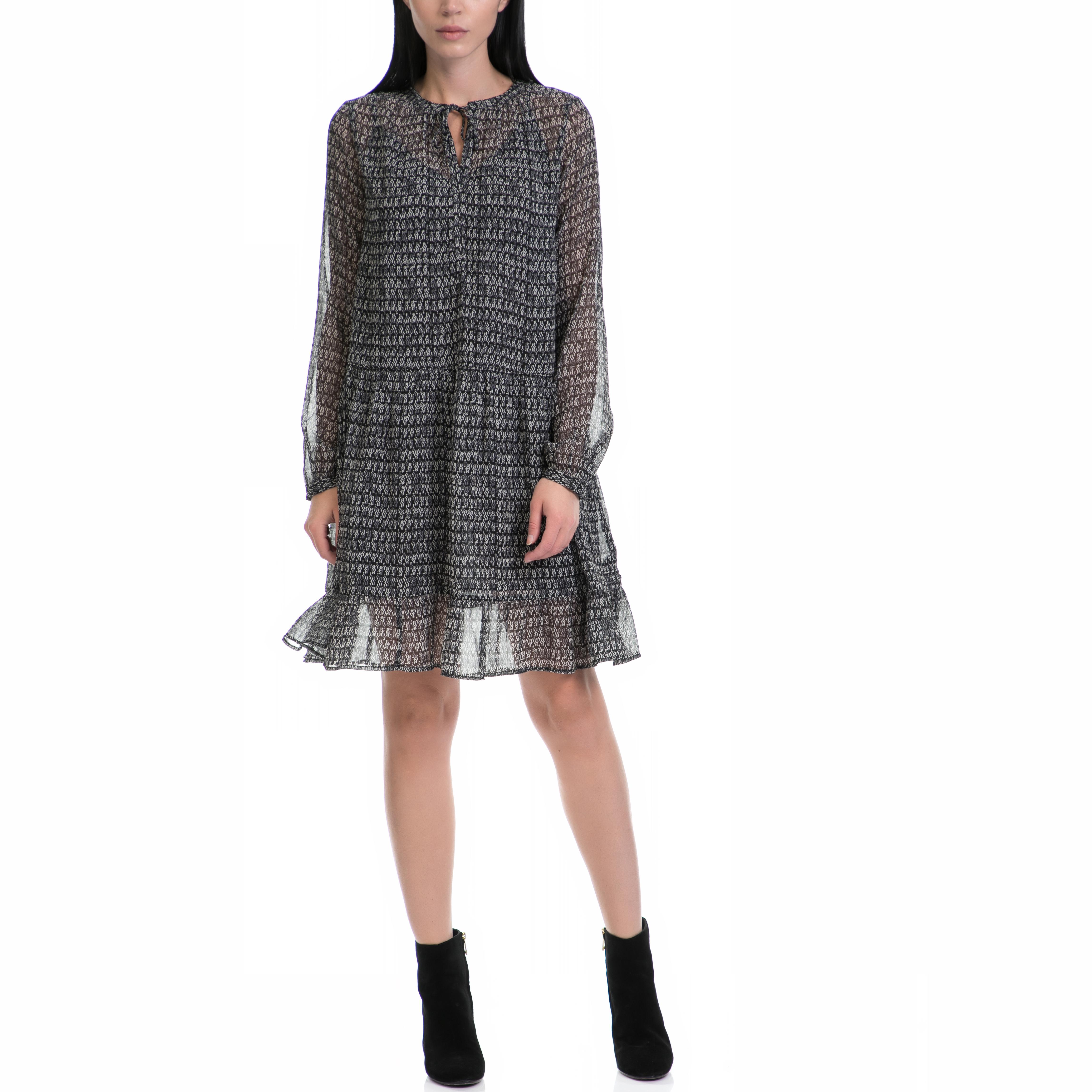 SCOTCH & SODA - Γυναικείο φόρεμα MAISON SCOTCH μαύρο-γκρι γυναικεία ρούχα φορέματα μέχρι το γόνατο