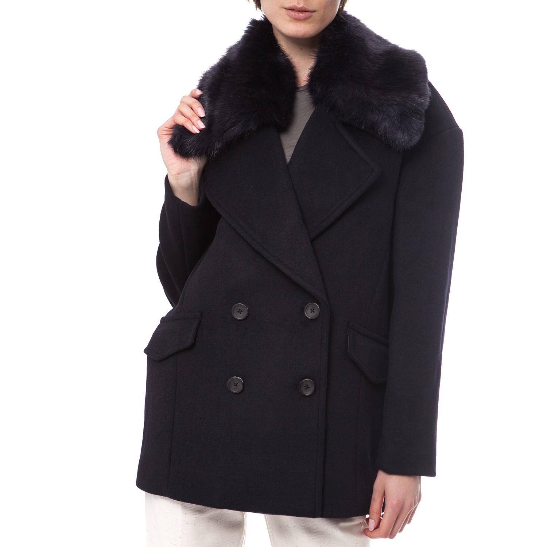 SCOTCH & SODA - Γυναικείο παλτό Maison Scotch μαύρο γυναικεία ρούχα πανωφόρια παλτό