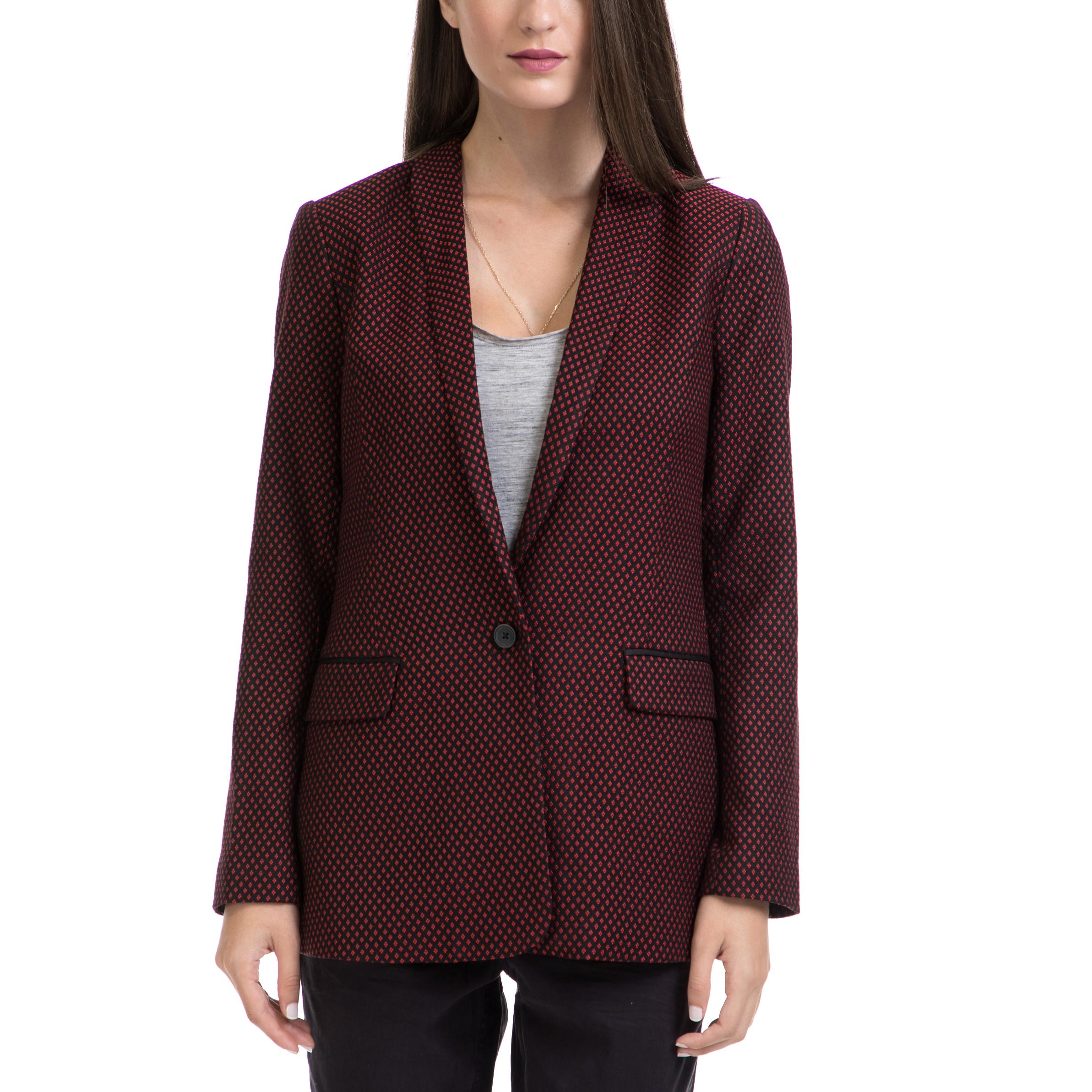 SCOTCH & SODA - Γυναικείο σακάκι MAISON SCOTCH μαύρο-κόκκινο γυναικεία ρούχα πανωφόρια σακάκια