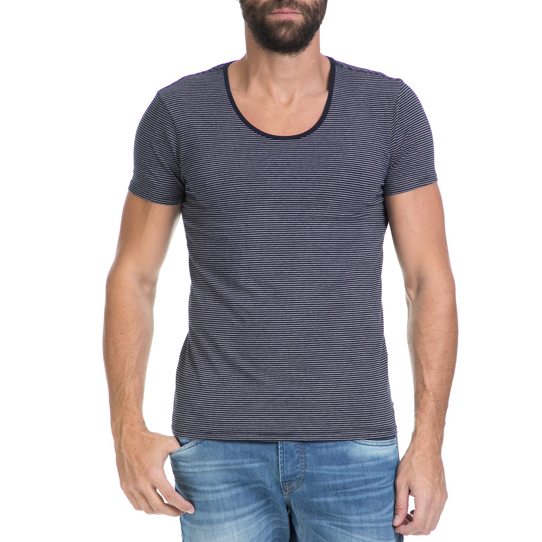 SCOTCH & SODA - Ανδρικό T-shirt SCOTCH & SODA μπλε-γκρι ανδρικά ρούχα μπλούζες κοντομάνικες