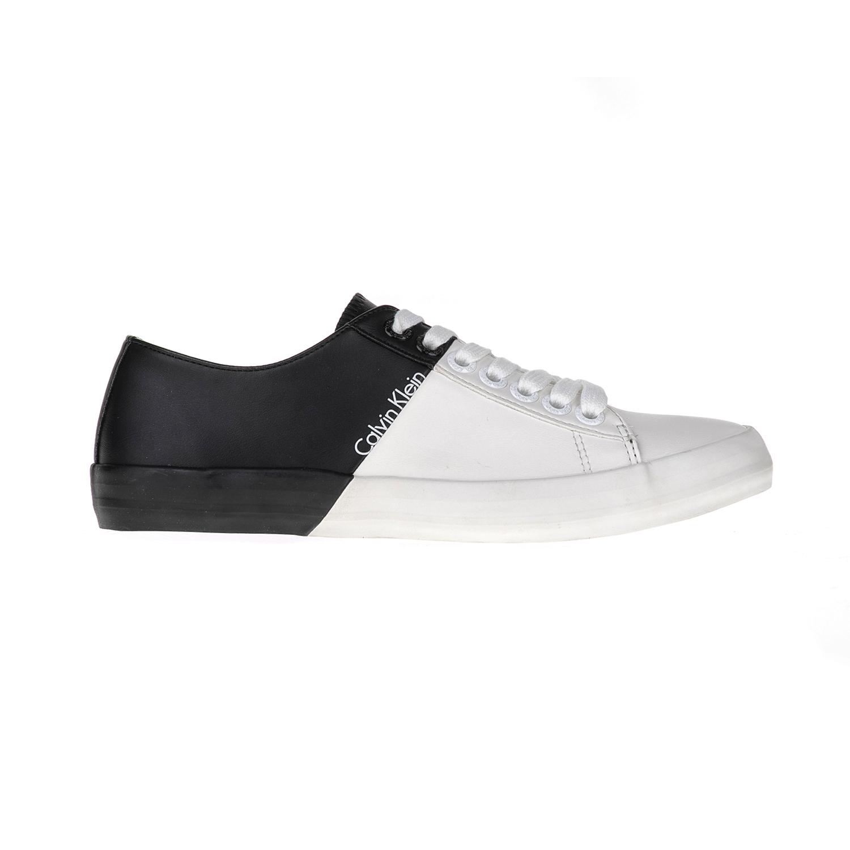 CALVIN KLEIN JEANS – Ανδρικά sneakers BYRON λευκά-μαύρα