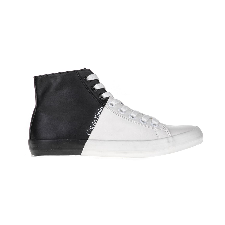 CALVIN KLEIN JEANS – Ανδρικά sneakers BUCK λευκά-μαύρα