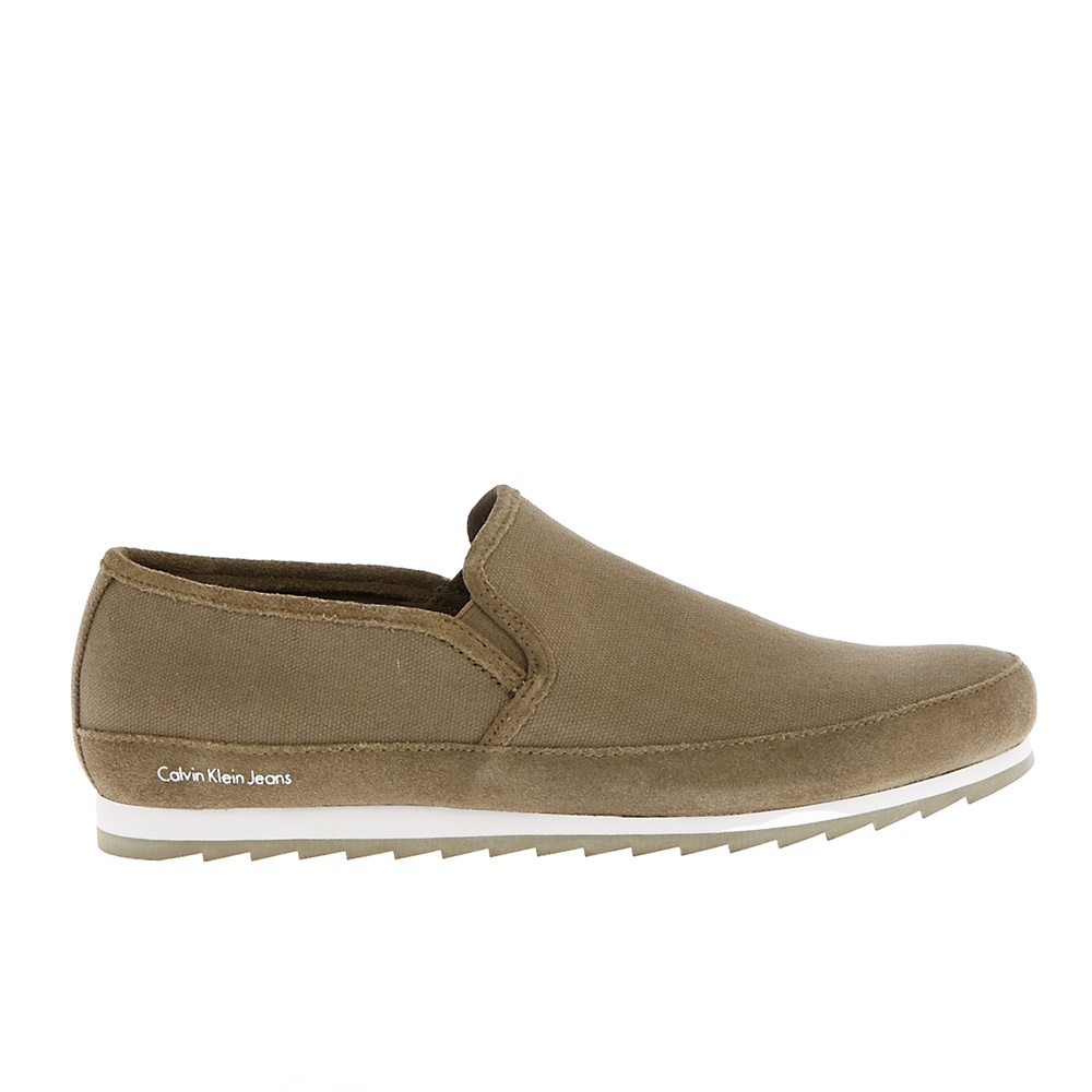 CALVIN KLEIN JEANS – Ανδρικά loafers CALVIN KLEIN JEANS WOLF χακί