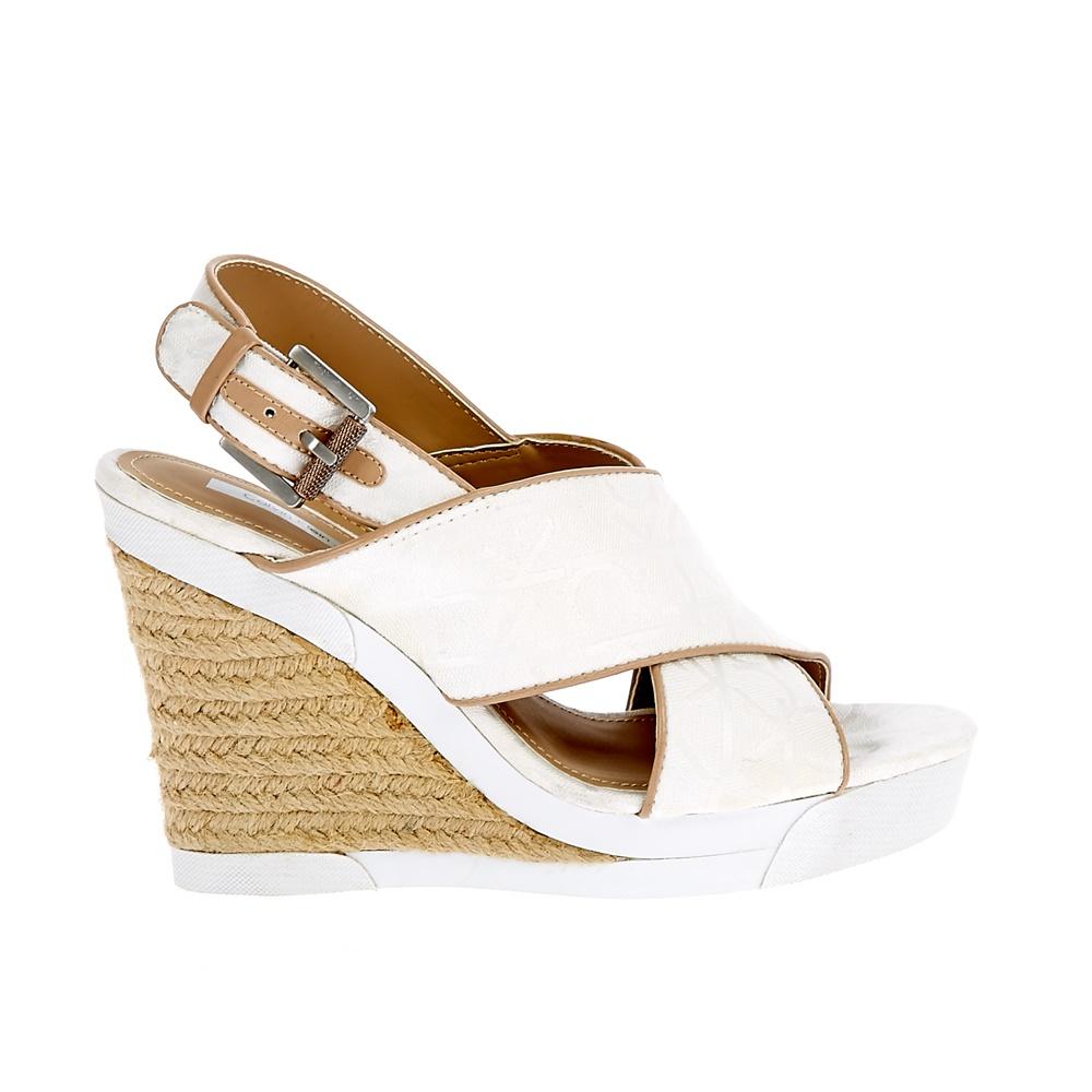 CALVIN KLEIN JEANS – Γυναικείες πλατφόρμες Calvin Klein Jeans λευκές