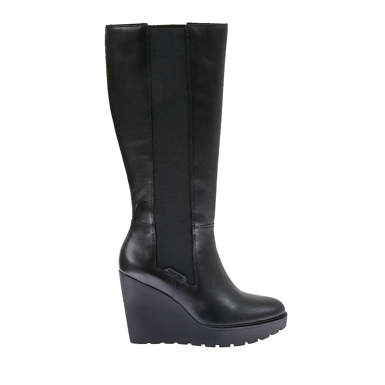 CALVIN KLEIN JEANS - Γυναικείες μπότες Calvin Klein Jeans μαύρες γυναικεία παπούτσια μπότες μποτάκια μπότες