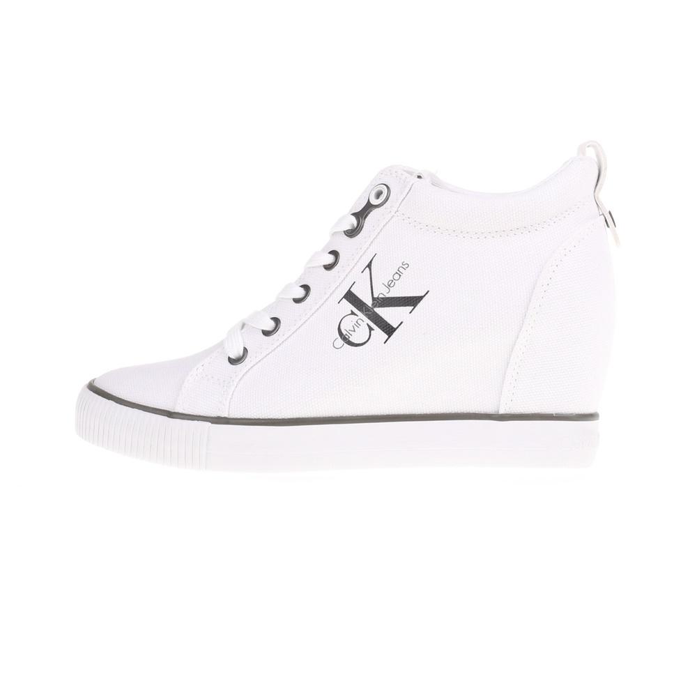 CALVIN KLEIN JEANS – Γυναικεία ψηλά sneakers RITZY λευκά