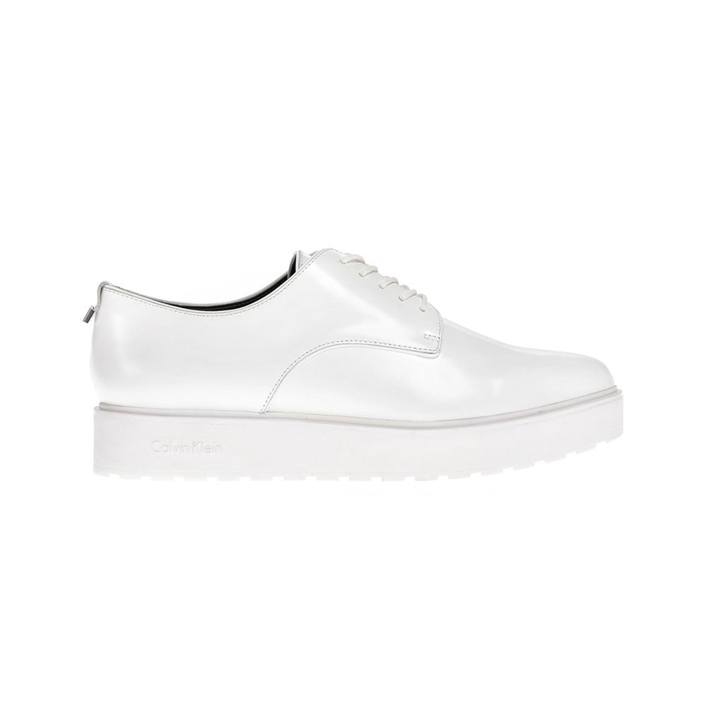 CALVIN KLEIN JEANS - Γυναικεία παπούτσια CALVIN KLEIN JEANS άσπρα γυναικεία παπούτσια μοκασίνια μπαλαρίνες μοκασίνια