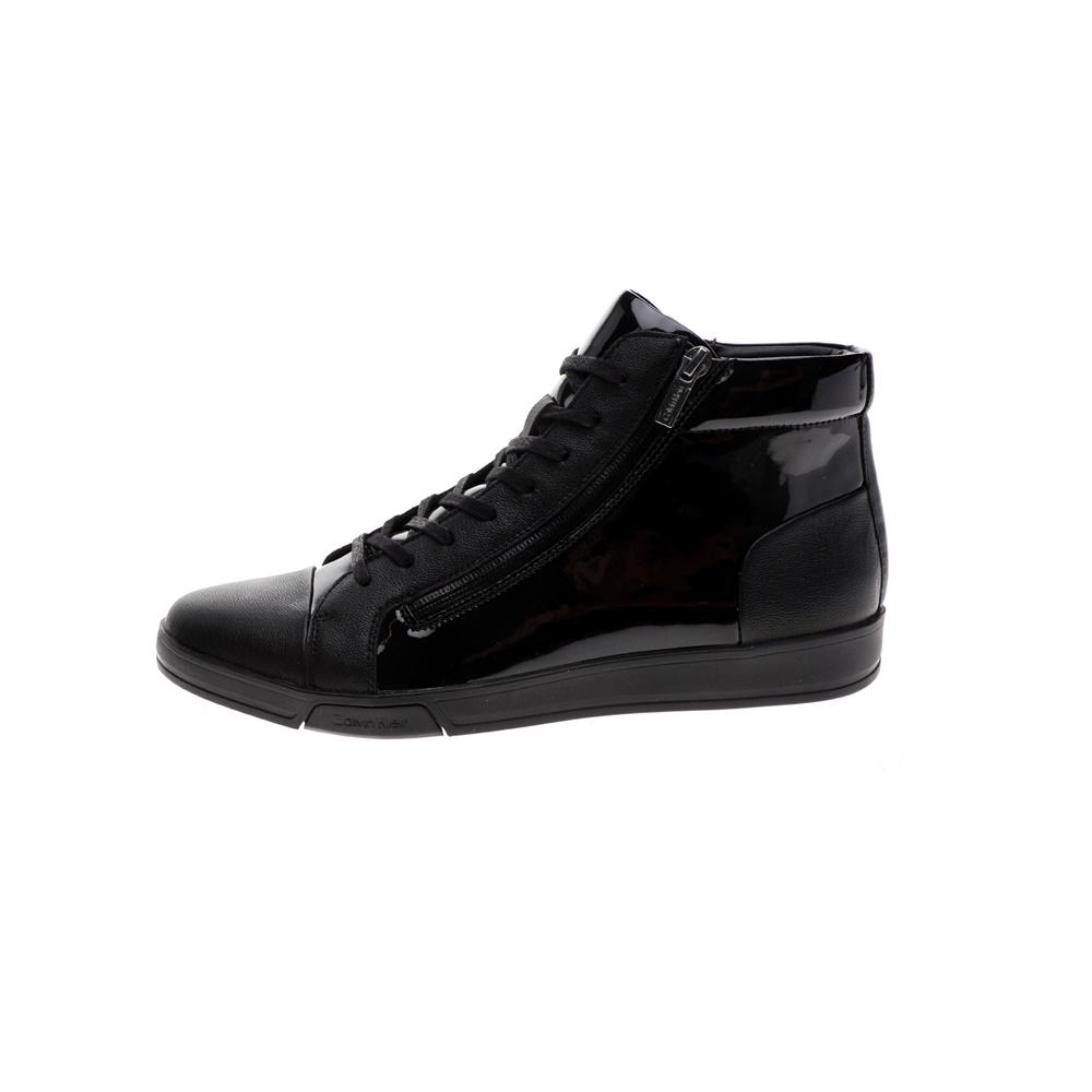 CALVIN KLEIN JEANS – Ανδρικά ψηλά sneakers CALVIN KLEIN JEANS BERKE μαύρα