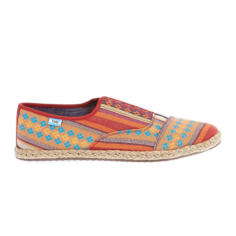 TOMS - Γυναικεία παπούτσια TOMS πορτοκαλί-κίτρινα γυναικεία παπούτσια μοκασίνια μπαλαρίνες μοκασίνια