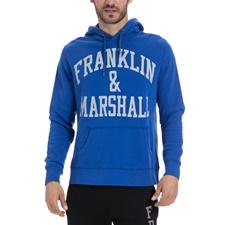 FRANKLIN & MARSHALL-Αντρικό φούτερ FRANKLIN & MARSHALL μπλε
