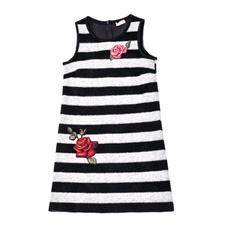 MONNALISA-Παιδικό φόρεμα Monnalisa ασπρόμαυρο