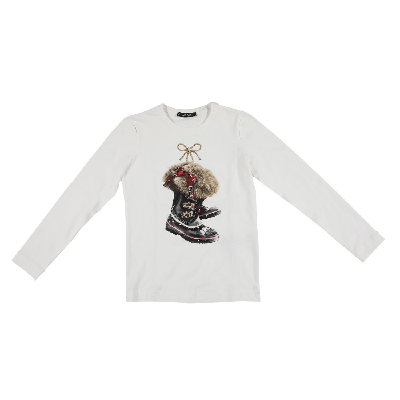 JAKIOO - Γυναικεία μακρυμάνικη μπλούζα JAKIOO ST.SCARPONI λευκή 12732ec191f
