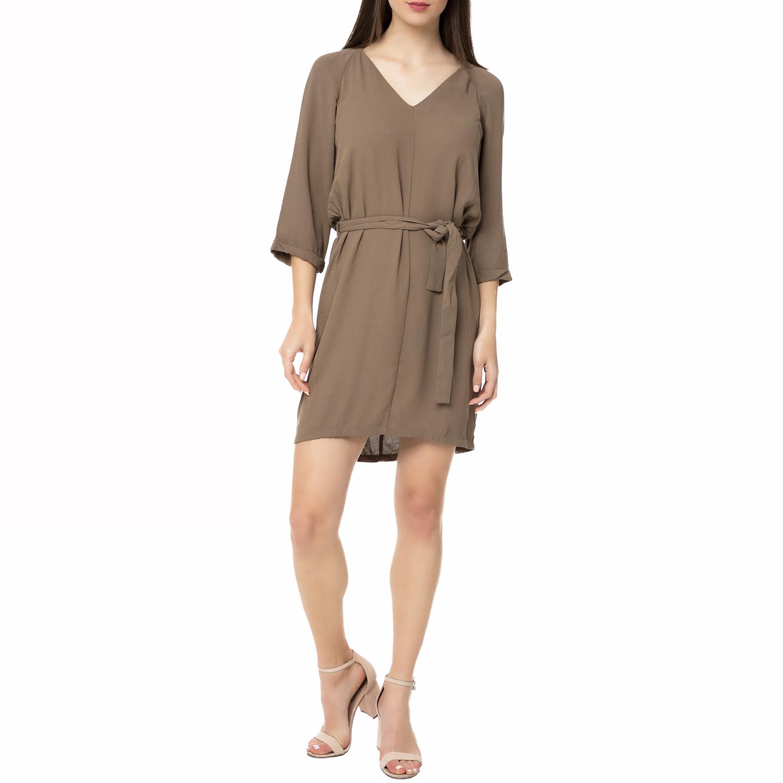 AMERICAN VINTAGE - Γυναικείο μίνι φόρεμα MAG164E16 AMERICAN VINTAGE καφέ γυναικεία ρούχα φορέματα μίνι