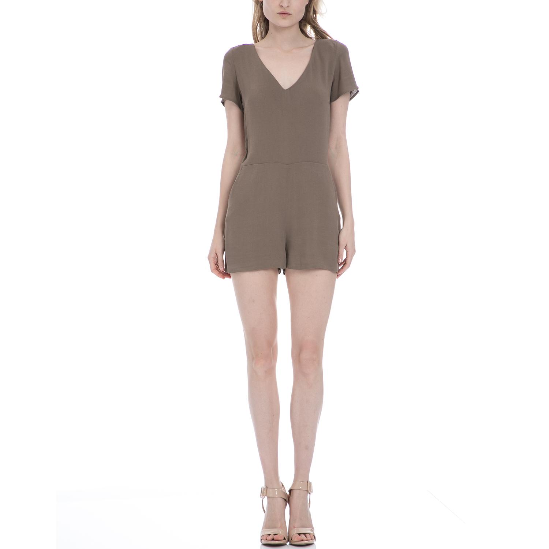 AMERICAN VINTAGE - Γυναικεία ολόσωμη φόρμα American Vintage καφέ γυναικεία ρούχα ολόσωμες φόρμες