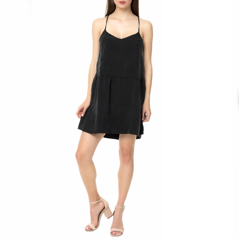AMERICAN VINTAGE - Γυναικείο μίνι φόρεμα MEA180E16 AMERICAN VINTAGE μαύρο γυναικεία ρούχα φορέματα μίνι