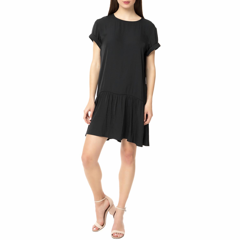 AMERICAN VINTAGE - Γυναικείο μίνι φόρεμα ONY176E16 AMERICAN VINTAGE μαύρο γυναικεία ρούχα φορέματα μίνι