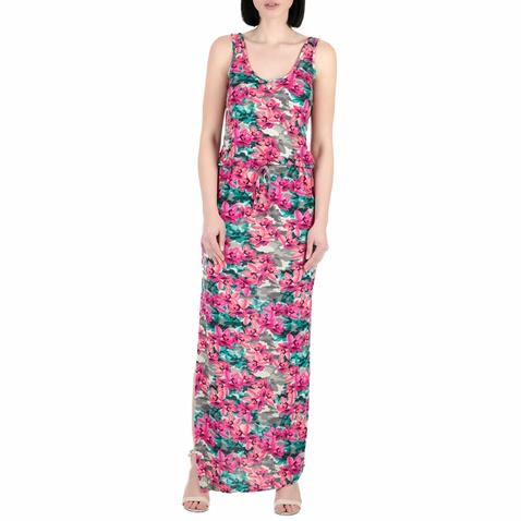 Γυναικείο μάξι φόρεμα Guess ροζ φλοράλ (1491330.0-0603)  eb10a56fad5