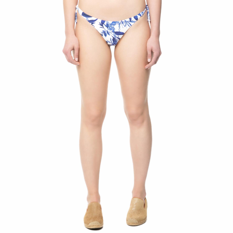 GUESS - Γυναικείο brazilian σλιπ μπικίνι Guess λευκό-μπλε γυναικεία ρούχα μαγιό κάτω μερος