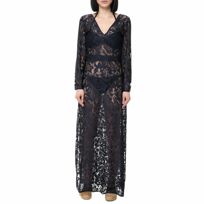 SAHA SWIMWEAR - Γυναικείο μάξι φόρεμα θαλάσσης SAHA SWIMWEAR μαύρο γυναικεία ρούχα φορέματα μάξι
