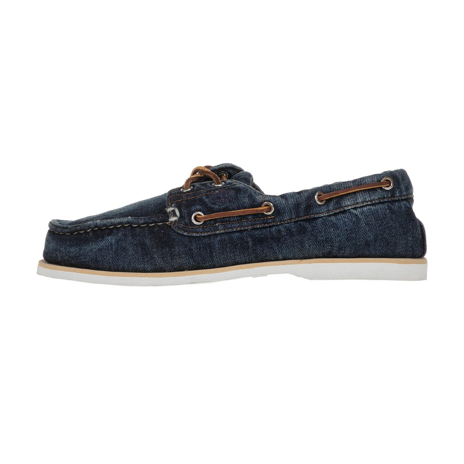 TIMBERLAND - Ανδρικά denim boat shoes TIMBERLAND BOAT μπλε ανδρικά παπούτσια boat shoes