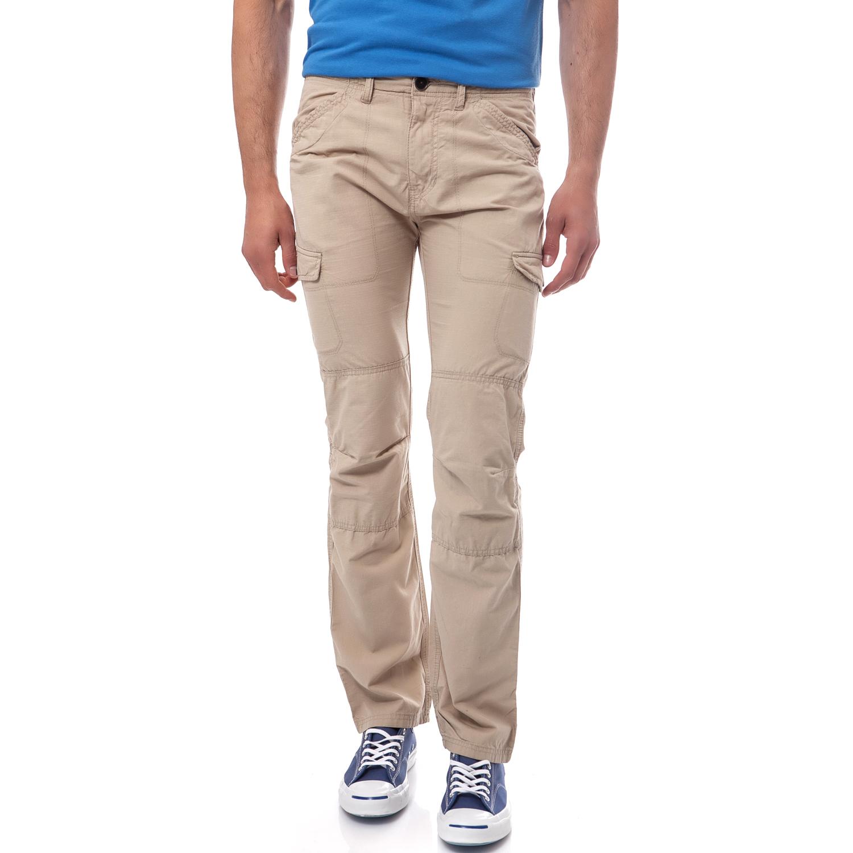 TIMBERLAND - Ανδρικό παντελόνι TIMBERLAND μπεζ ανδρικά ρούχα παντελόνια cargo
