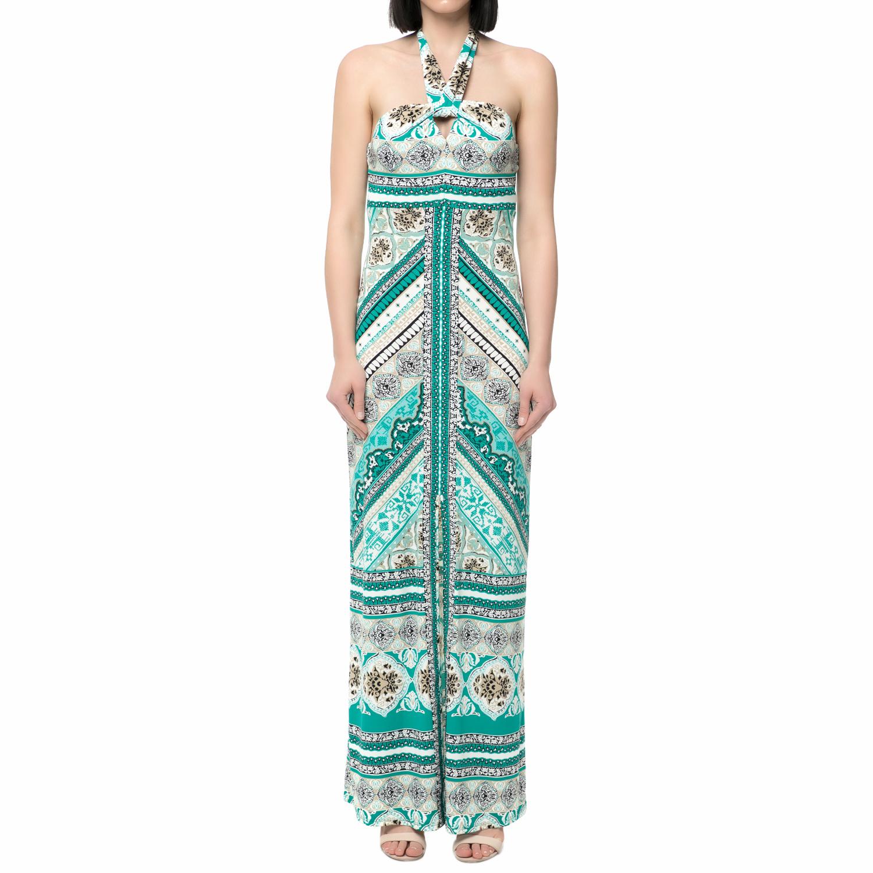 HALE BOB - Γυναικείο μάξι φόρεμα HALE BOB πράσινο με print γυναικεία ρούχα φορέματα μίνι