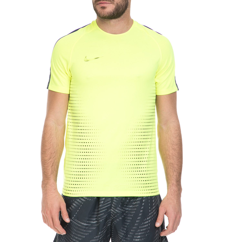 NIKE - Ανδρική αθλητική μπλούζα ΝΙΚΕ DRY TOP SS SQD CR7 κίτρινη ανδρικά ρούχα αθλητικά t shirt