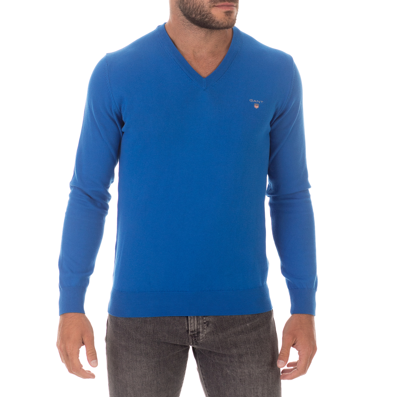 GANT - Ανδρικό πουλόβερ GANT μπλε
