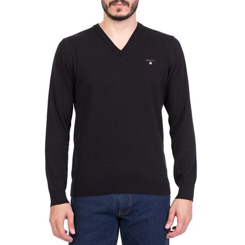 da4690116b39 Ανδρικό πουλόβερ με V GANT μαύρο (1495880.0-0487)